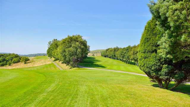 A sunny day view from Stamford Golf Club.