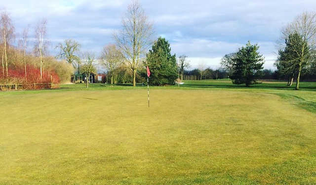 A view of a hole at Styal Golf Club.