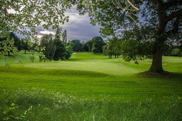 A view of green #15 at Bramall Park Golf Club.