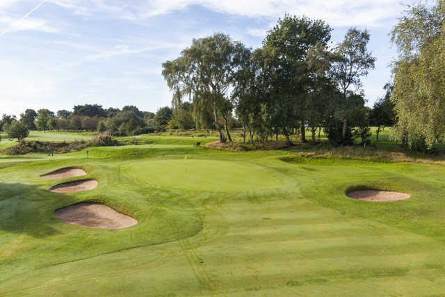 A view of the 13th green at Ringway Golf Club.