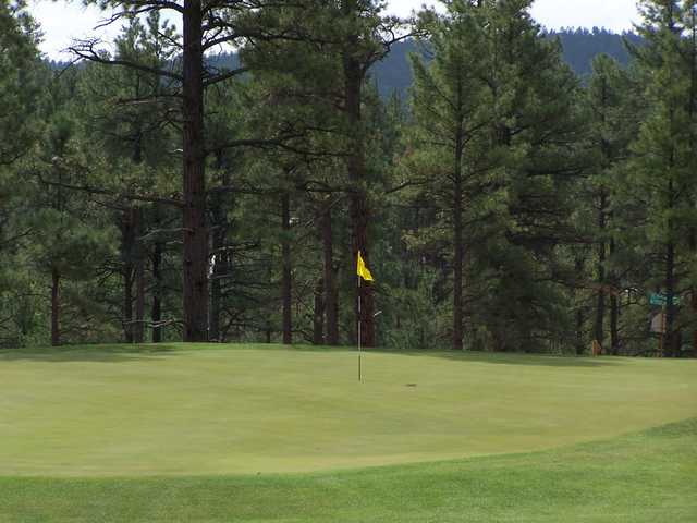 A view of the 17th green at Bison Golf Club
