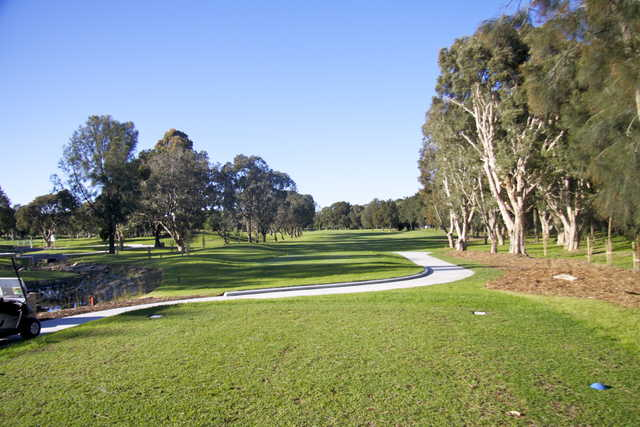 A view from a tee at Beverley Park Golf Club.