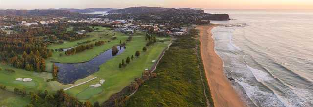 Aerial view of the Mona Vale Golf Club