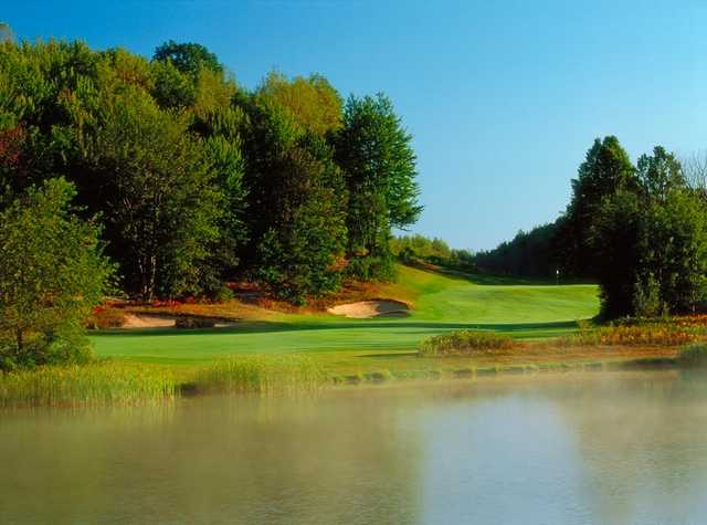 View of a green at The Valley at Wilderness Valley Golf Resort