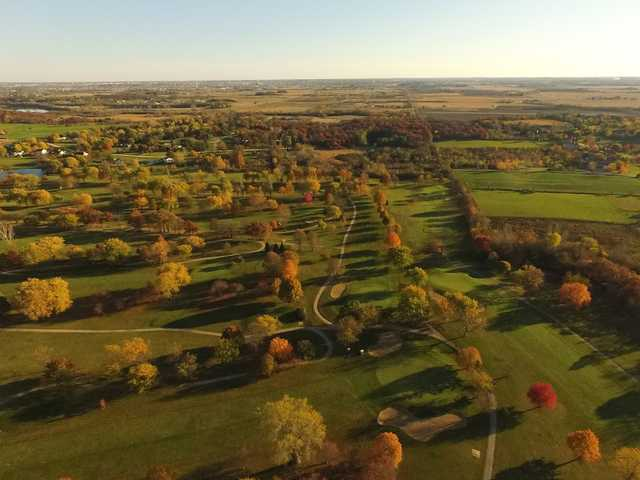 Aerial view of the Craig Woods Golf Course