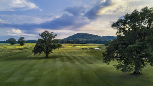 View from a fairway at FarmLinks at Pursell Farms