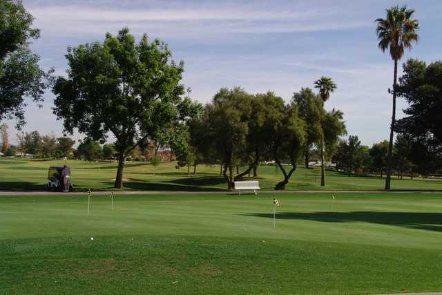 A view of the putting practice green at Union Hills Country Club