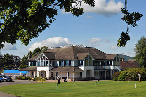 View of the clubhouse at Crieff Golf Club