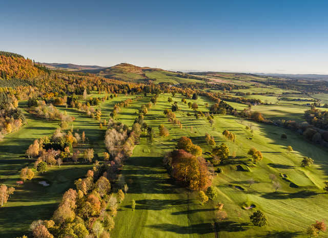 Aerial view from Crieff Golf Club.