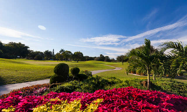 A sunny day view from Fort Lauderdale Country Club.