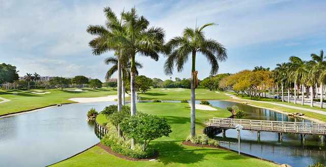 A sunny day view from Boca Raton Resort & Club.