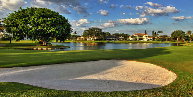 A view of a hole at Delaire Country Club.
