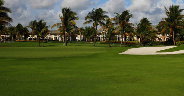 A view of a green at Delaire Country Club.