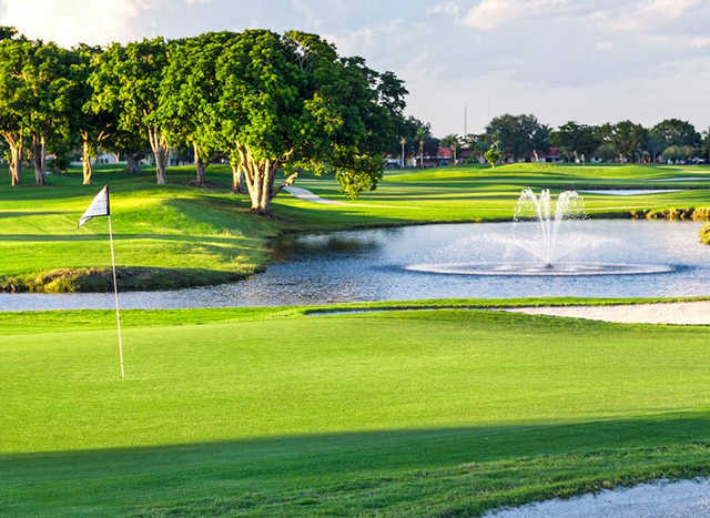 A view of a green at Miccosukee Golf & Country Club.