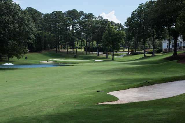 A view of the 18th hole at Atlanta Country Club.