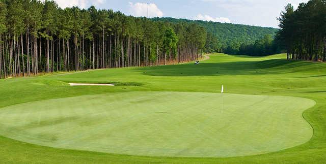A view of the 9th green at Ballantrae Golf Club.