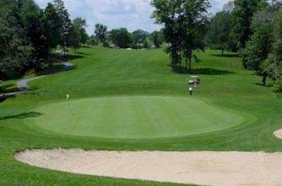 A view of the 12th green at Hawks Nest Golf Club