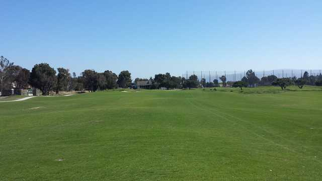 View from the middle of the 9th fairway at Baylands Golf Links