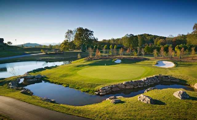 A view of hole #18 at Cummings Cove Golf & Country Club.
