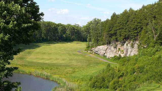 A sunny day view from Deerhurst Highlands at Deerhurst Highlands Golf Course.