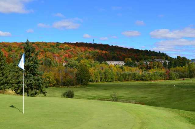 A view of the 6th green at Deerhurst Lakeside from Deerhurst Highlands Golf Course.