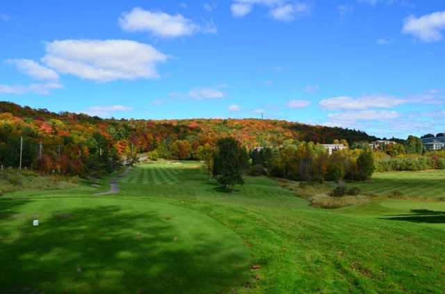A view from tee #7 at Deerhurst Lakeside from Deerhurst Highlands Golf Course.