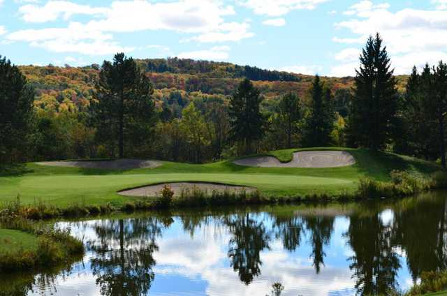 A view of the 8th green at Deerhurst Lakeside from Deerhurst Highlands Golf Course.