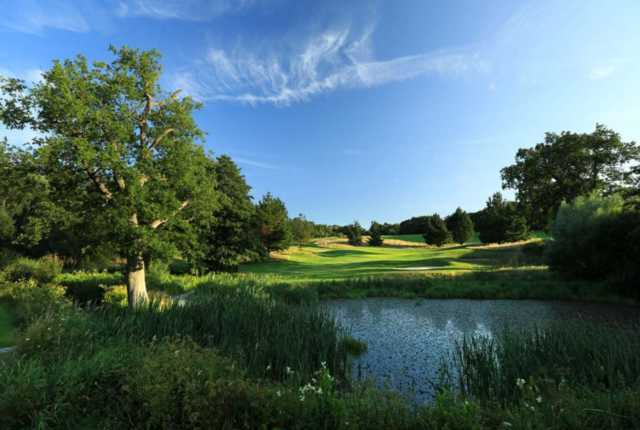 A view of hole #13 at West Course from East Sussex National.