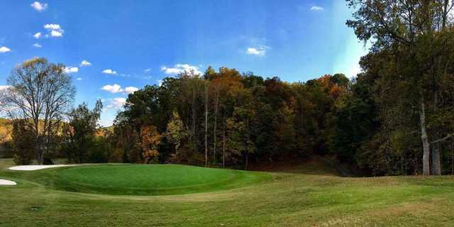 A view of a hole at Gatlinburg Golf Course.