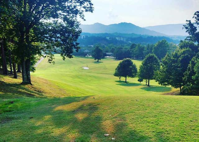 A view of  fairway #1 at Gatlinburg Golf Course.