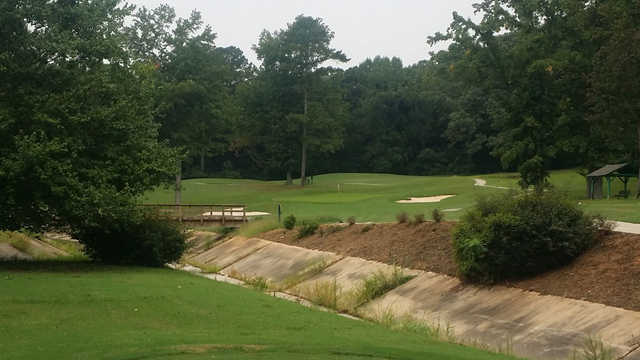 A view of the 6th green at John A. White Golf Course.