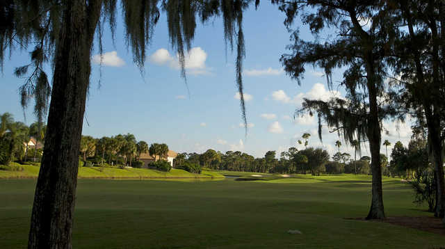 A view of a fairway at Frenchman's Creek Beach & Country Club.