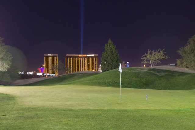 A view of a hole at Las Vegas Golf Center.