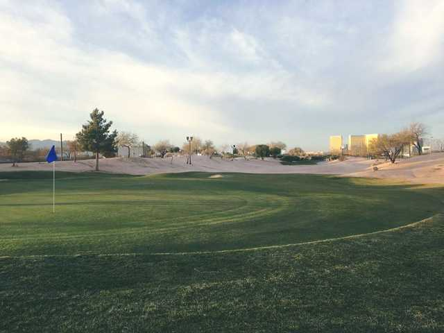 A view of a green at Las Vegas Golf Center.