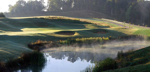 A view of hole #14 at WindRiver Golf Course.