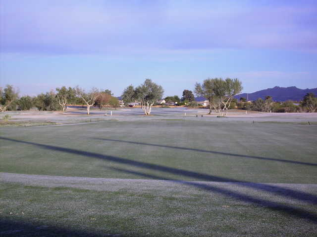 A view of the practice area at Crooked Tree Golf Course