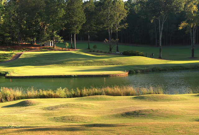 A view of the 12th green at University of Georgia Golf Course.