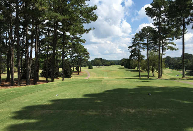 A view from a tee at University of Georgia Golf Course.