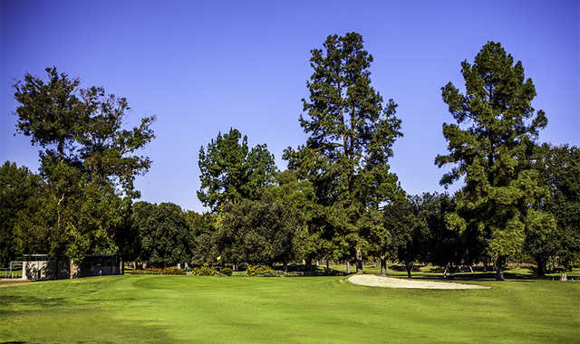 A sunny day view of a hole from Balboa at Sepulveda Golf Complex.