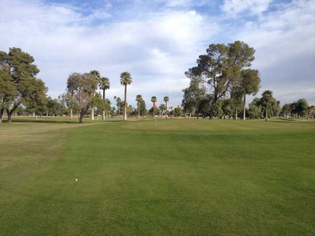 A sunny day view of a hole at Encanto Nine Golf Course (John Cupit).
