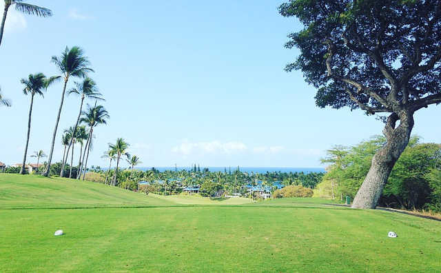 A view from tee #1 at Kona Country Club.