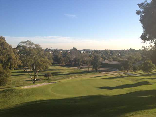 A view of hole #18 at Mission Trails Golf Course.