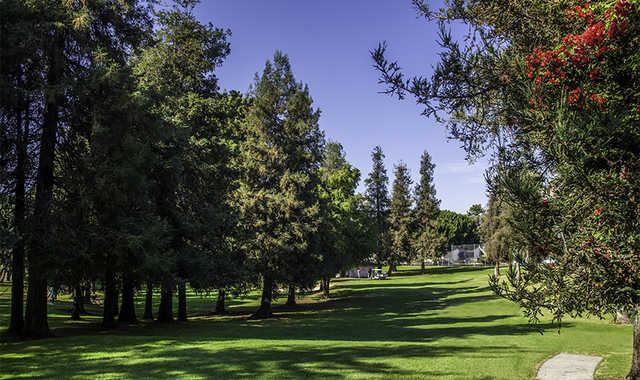 A view from Rancho Park Golf Course.