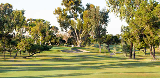 A view of a well protected hole at San Diego Country Club.
