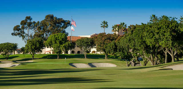 A view of the 9th hole at San Diego Country Club.