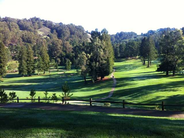 A view of a fairway at Tilden Park Golf Course.