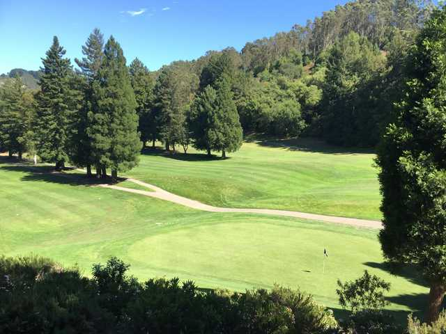 A view of a hole at Tilden Park Golf Course.