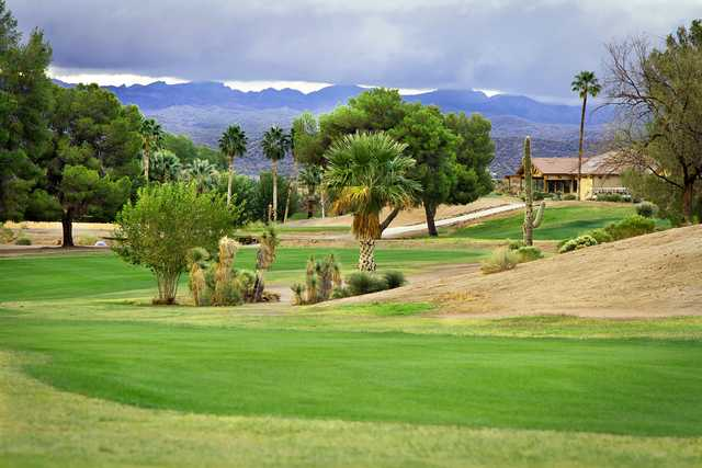 A view from the 18th fairway at Wickenburg Country Club.