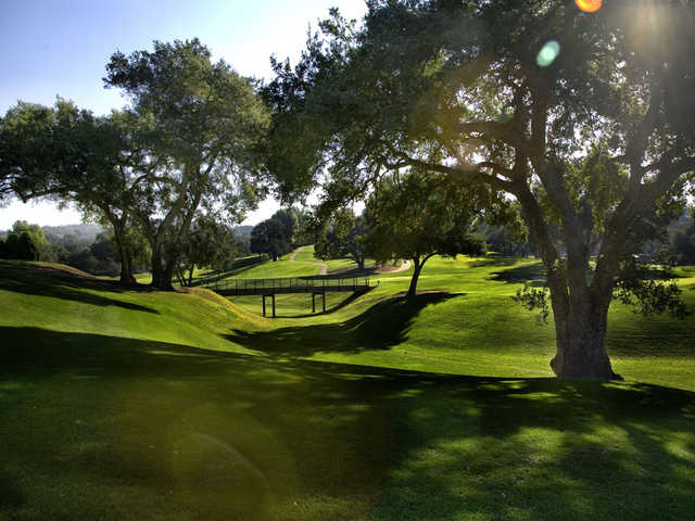A sunny day view from Woodland Hills Country Club.