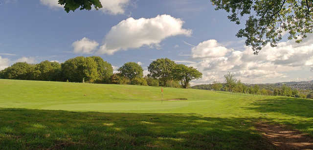 View of a green at Tredegar Park Golf Club